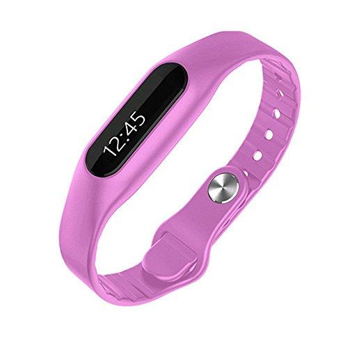 Montre Intelligente E06 Bluetooth intelligent OLED Bracelet Wristband Montre Téléphone Maté podomètre avec étapes sommeil Distance Calorie Tracking Déplacer entrants Fonctions de rappel d'appel ( Rouge)
