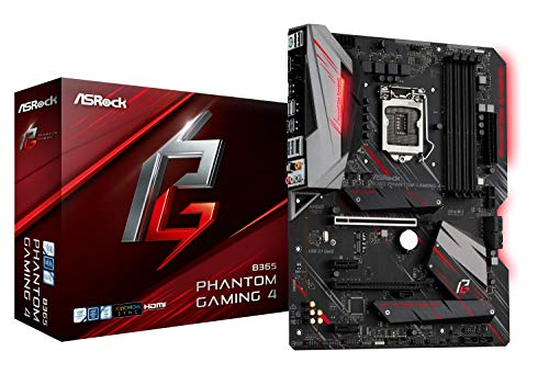 ASRock B365 Phantom Gaming 4 LGA1151/ Intel B365/ DDR4/ Quad Crossfirex/SATA 3/ USB 3.1/ m.2/ A/GbE/ATX Motherboard