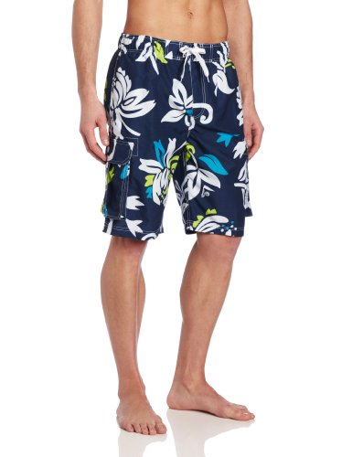 Kanu Surf Men's Barracuda Swim Trunks (Regular & Extended Sizes), Oahu Navy, X-Large