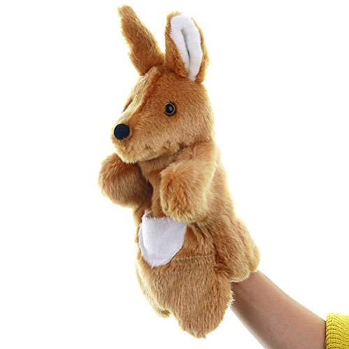 1pc 25cm Lustige Känguru-Plüschpuppen Familienkindergarten Tiergeschichte Erzählen von Puppen Spielzeug