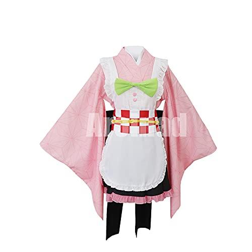ULLAA Kamado Nezuko Cosplay disfraz de sirvienta delantal trajes de Demon Slayer para exhibicin de anime mascarada de Halloween
