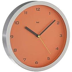 Bai 834.GT Designer Wall Clock, Gotham Tangerine