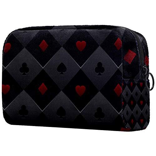 Personalisierbare Make-up-Pinsel-Tasche, tragbare Kulturtasche für Frauen, Handtasche, Kosmetik, Reise-Organizer, Pokertisch