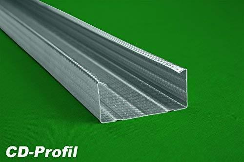 50 Meter | CD Profil | Trockenbau | Decken Wandausbau | 60x27mm | Hexim | CD 60