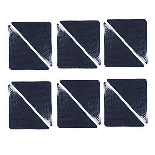 Anti Rutsch Ecken für Teppiche,12 Stück Antirutschmatte Aufkleber Rutschfeste Matte Antirutschpad Teppichunterleger Antirutschpad Dreieck Pad Teppich Unterlage Greifer Teppichgreifer Wiederverwendbar