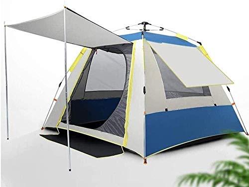 Tienda de campaña LAZ para acampar al aire libre durable y impermeable, tienda grande familiar 4 personas, tienda doble con porche