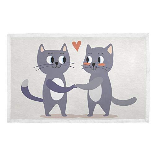 UMIRIKO Manta para mascotas con diseño de animales lindos para parejas, perros, gatos, cachorros, colchoneta para sofá cama, lavable 2020228
