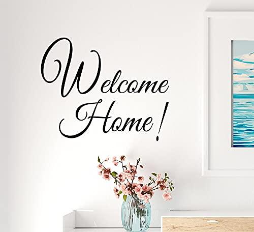 N\A Bienvenido a casa Pegatinas de Pared Pegatinas de Pared extraíbles Papel Tapiz decoración de la habitación de los niños calcomanías de Arte de Vinilo