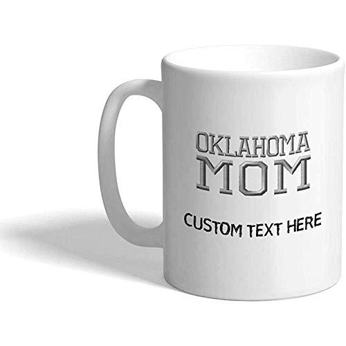 Tazza da caffè personalizzata 330 ml Oklahoma Mom Mama Uniteds Family and Friends Tazza da tè in ceramica Testo personalizzato