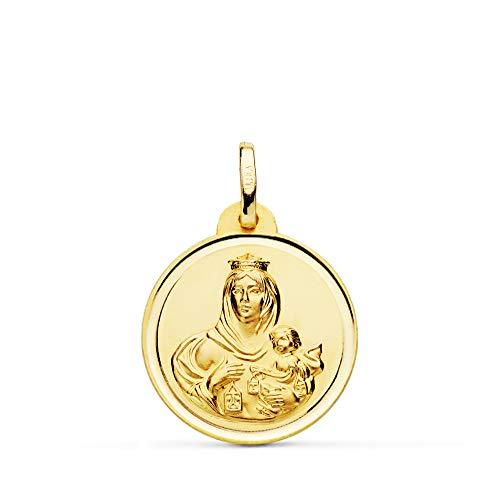 Medalla Escapulario V. Carmen y C. Jesús Oro 18 Kilates Bisel 20mm
