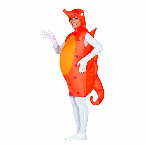 Disfraz Submarino Traje Caballito de mar L Unisex Outfit Fiesta temática subacuático Vestimenta Divertida de Carnaval Caracterización Caballo de mar Vestido de Animal Marino