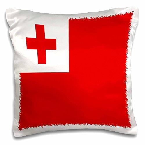 3dRose pc_31594_1 Tonga Flaggen-Kissenbezug, 40,6 x 40,6 cm