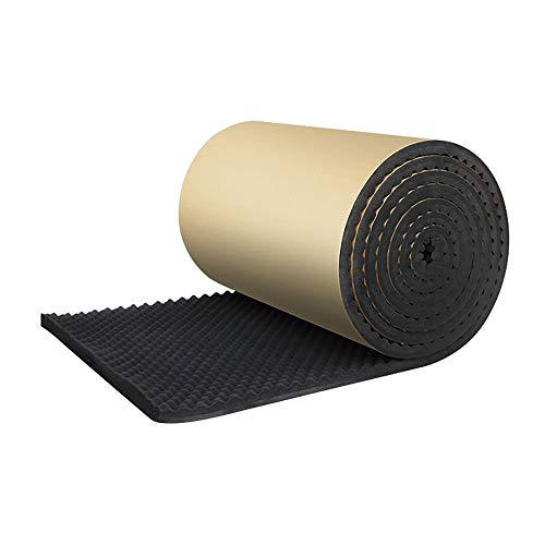 Cofemy geluidsisolerende mat, 100 × 50 × 2 cm, geluidsdempende mat voor auto's, tegels met hoge dichtheid, akoestisch schuim, dubbellaags, zelfklevend, 2 cm dik