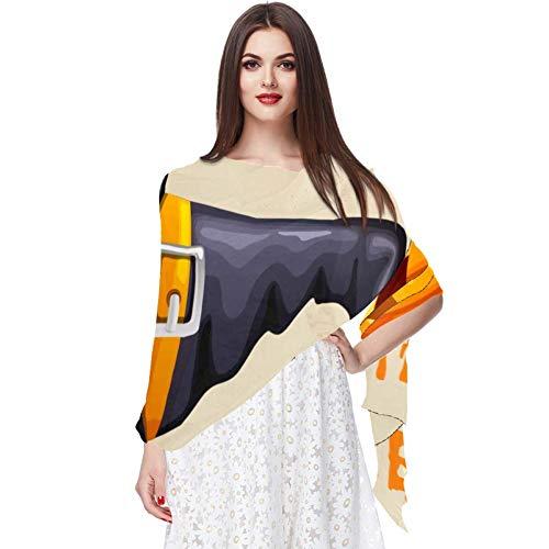 Bufanda de gasa de protección solar ligera y transpirable para mujeres verano pañuelo de cuello superior para bloquear viento y arena Halloween tarjeta de invitación