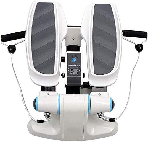 Lianganan 2020 - Macchina per esercizi passo-passo, mini Twister Stepper con fascia di resistenza di potenza, aerobica allenamento stepper cardio esercizio Trainer zhuang94