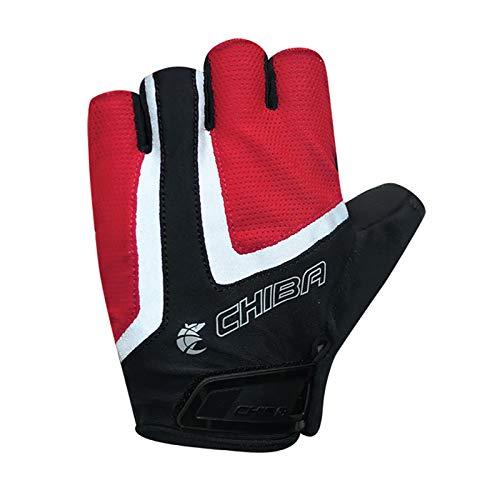 Chiba Gel Air Reflex Fahrrad Handschuhe kurz rot/schwarz 2021: Größe: M (8)