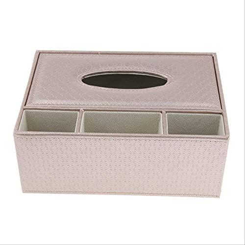 MYGZFF Caja de pañuelos de Cuero Casa de Papel Holder Holder Distribuidor Organizador (Color : Champagne)