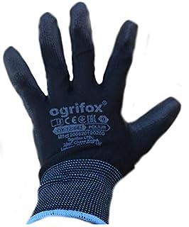 scheda 12, 24paia di guanti da lavoro in nylon rivestito in pu, neri giardinaggio, edilizia, meccanica di ajs workwear ltd