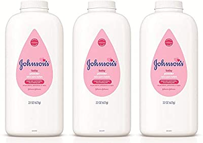 Johnson's Baby Powder Triple-Pack for Delicate Skin, Hypoallergenic and Free of Parabens, Phthalates, and Dyes Baby Skin Care, 3 x 22 oz (Pack of 3)