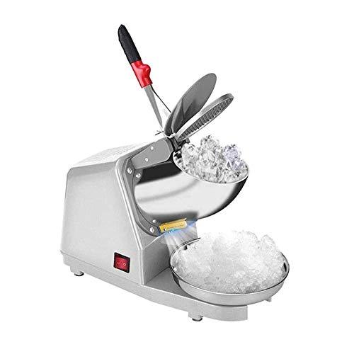 YFGQBCP Acero Inoxidable de Hielo Trituradora eléctrica de Afeitar 187lbs / HR encimera Snow Cone Maker for Helado, Bebidas frías, Fruta de Postre y cóctel
