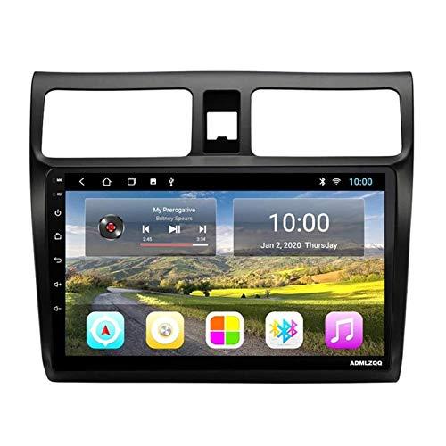WY-CAR 10.1 Pulgadas Android 8.1 Auto Radio Doble DIN Head Unit para Suzuki Swift 2009-2018, Reproductor Multimedia, GPS/Bluetooth/FM/Control del Volante/Cámara Trasera,8core-WiFi: 4+64G
