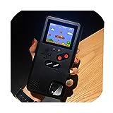 フルカラーディスプレイ電話ケースiphone 11プロマックスケースレトロテトリスゲームバックカバーiphone XSマックス6 7 8プラスX XR、iphone 6Sプラス、ブラック