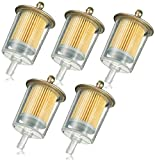 3/8' Universal Fuel Filters Industrial Tractors Cars Trucks Motorcycles gas powered engine Inline Gas Fuel Line 5 pack