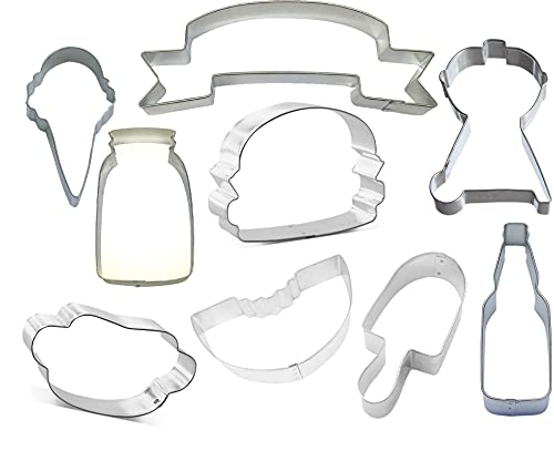 BBQ Grill Cookout Party Cookie Cutter 9 Piece Set from The Cookie...