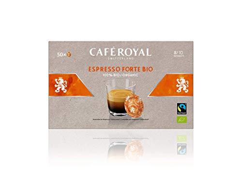 Café Royal Espresso Forte Bio 50 Nespresso (R)* Pro kompatible Kapseln - Kompatible Kaffeepads für Nespresso (R)* Business Solution Maschine - Intensität 8/10