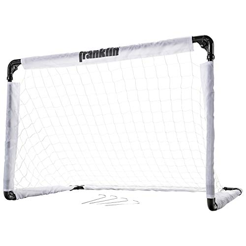 Franklin Sports Soccer Goal - 36 x 24 Inch Size - Easy Assembly - Convenient Fold Flat Design for Storage – Great for Outdoor Play!, OS (6891X)