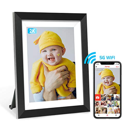 Frameo 2K 10 Inch Digital Picture Frame with WiFi App Contol, High Resolution IPS Touch Screen Photo Frame, Easy Setup, Free App, Wall Mountable Cloud Digital Photo Frame
