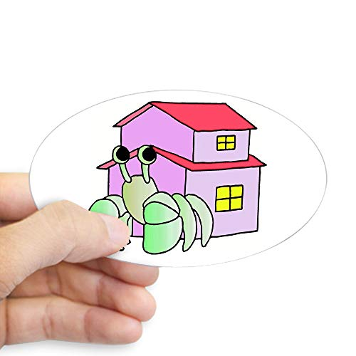 CafePress Hermit Crab Cartoon Oval Sticker Oval Bumper Sticker, Euro Oval Car Decal