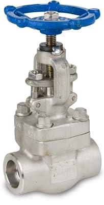 "Sharpe Valves 44836 Series Stainless Steel 316L Globe Valve, Bolted Bonnet, Inline, Hand Wheel, 1"" Socket Weld by Smith-Cooper International"