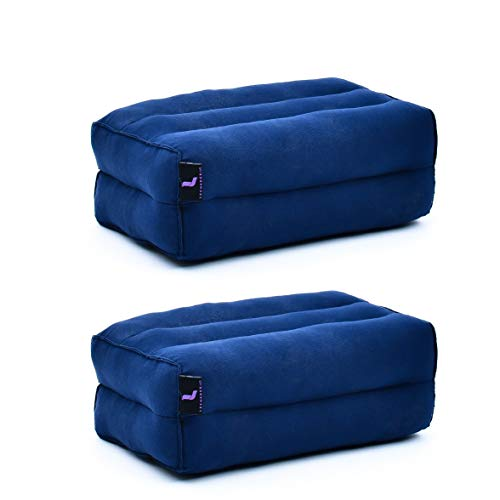 Leewadee Yoga Block Set of 2 Pilates Brick Meditation Cushion Eco-Friendly Organic and...