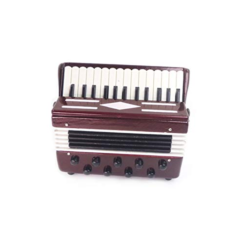 Gbell Dollhouse Accessories And Furniture 1 12 Scale ,Miniature Accordion Doll House Accessory Wooden Instrument Assembled Pretend Playhouse Decoration Best Educational Toys for Baby Girls (colorful)