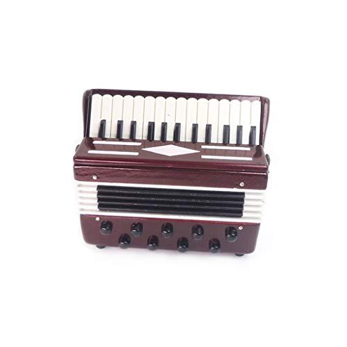 ToDIDAF Puppenhaus Zubehör Niedliches Miniatur Akkordeon 1:12 Mini Dollhouse Miniatur Musikinstrument, Lernspielzeug für Kinder, 65 x 25 x 60 mm