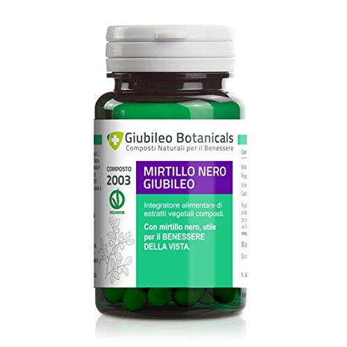 Integratore con MIRTILLO NERO - utile per il benessere della vista, con CALENDULA E POLYGONUM - 25 giorni di trattamento