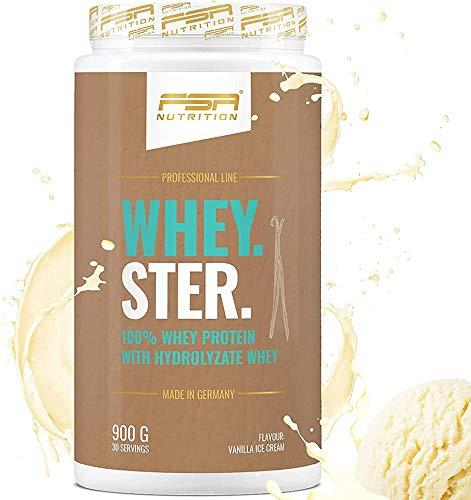 Premium Whey Protein Eiweißpulver zum Muskelaufbau und Abnehmen, Vanilla Ice Cream, 30 Portionen - FSA Nutrition