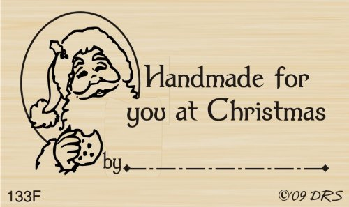Santa Handmade at Christmas Rubber Stamp by DRS Designs