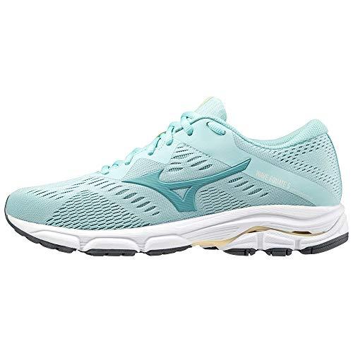Mizuno Wave Equate 5, Zapatillas para Correr Mujer, Huevo Dustyt Pastely, 42 EU