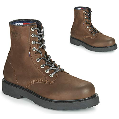 TH Shoes Nubuck Warmlined LACE UP Boot, braun(Brown), Gr. 46