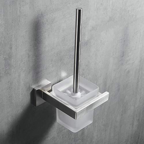 Kelelife Toilettenbürste, WC-Bürste und Halter mit Gebürstet Edelstahl-Halter Wandmontage, Matte Finish