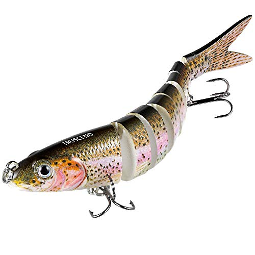 TRUSCEND Fishing Bass Lures Multi Jointed...