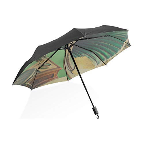 Paraguas de niña para niños Gramófono Antiguo con bocina Altavoz Portátil Compacto...