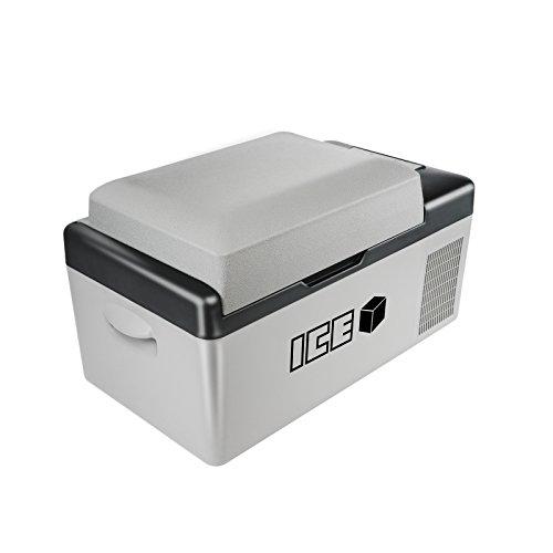 ICE Cube 20 Liter tragbarer Autokühlschrank Gefrierschrank Kühlbox Gleichstrom 12V 24V Wechselstrom 230V