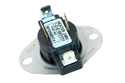 Whirlpool Tumble Dryer Thermostat. Genuine part number 480112100394