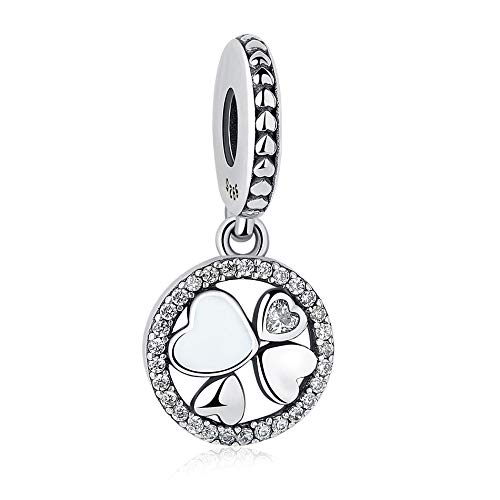 Diy Authentic 925 Sterling Silver Clover Heart Charm Beads Fit Original Bracelets Beads Jewelry Making
