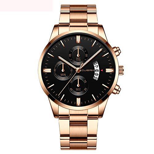 Moda Relojes Hombre Elegante 2020 Mejor Regalo,Reloj De Pulsera De Cuarzo Deportivo con Fecha AnalóGica De Acero Inoxidable para Hombre Cuena