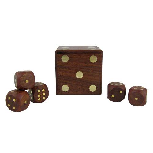 Spielwürfelbox mit fünf Würfeln