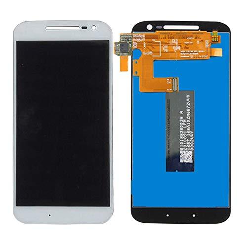 Pantallas LCD para teléfonos móviles 1920x1080 5.5 '' IPS LCD Pantalla de Pantalla táctil Piezas de Repuesto digitalizador/Ajuste para Motorola Moto G4 Plus LCD (Color : White (G4))
